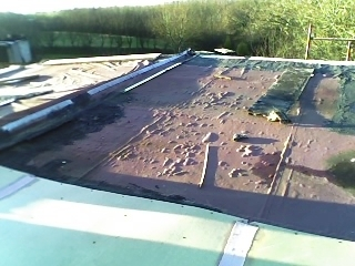 Flat Roof Before Work